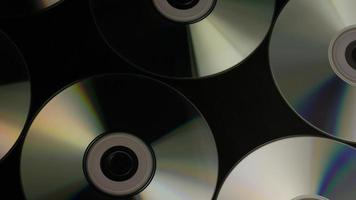 Rotating shot of compact discs - CDs 029