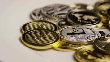 Tiro giratorio de bitcoins (criptomoneda digital) - bitcoin mixto 084 video