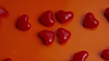Rotating stock footage shot of Valentines decorations and candies - VALENTINES 0044 video