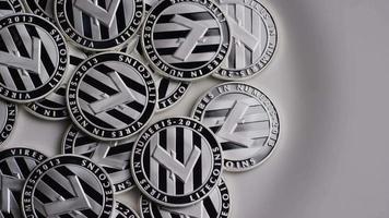 colpo rotante di bitcoin litecoin (criptovaluta digitale) - bitcoin litecoin 0147