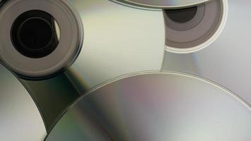 Rotating shot of compact discs - CDs 006