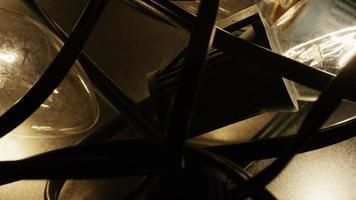 Plano cinematográfico y giratorio de luces navideñas ornamentales - navidad 020
