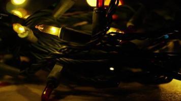 Plano cinematográfico y giratorio de luces navideñas ornamentales - navidad 046