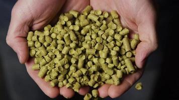Images au ralenti de fournitures et de processus de brassage de bière à domicile - brassage de bière 068