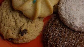 Cinematic, Rotating Shot of Cookies on a Plate - COOKIES 306 video