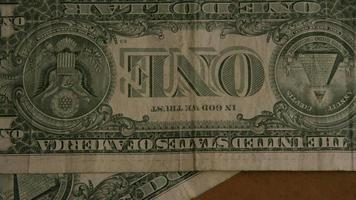 Rotating shot of American money (currency) - MONEY 461 video