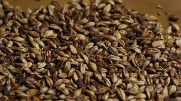 colpo rotante di orzo e altri ingredienti per la produzione di birra - produzione di birra 101