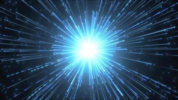 fundo do hiperespaço com explosão estelar brilhante