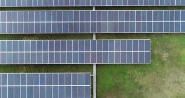 Aerial view of Solar cell Farm,  video