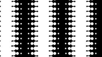 cercle de points noir et blanc dynamique en boucle
