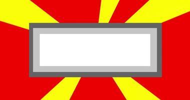 priorità bassa della bandiera del raggio radiale di movimento