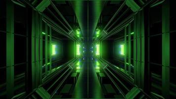 tunnel de science-fiction futuriste