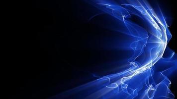 onde di luce blu frattale brillano video