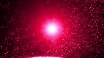 partícula de luz abstrata em câmera lenta video