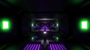 tunnel scifi nero scuro video