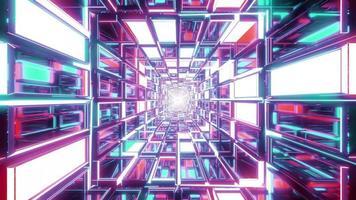 tunnel de verre abstrait