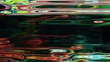 La luz líquida abstracta forma pulso, ondulación y flujo.