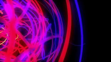 emaranhado de linhas de néon video