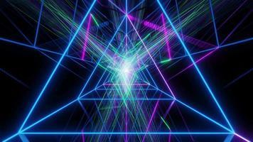 triangolo astratto wireframe design