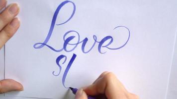 história de amor no papel video