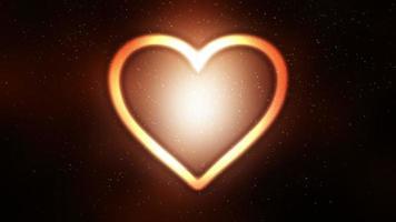 lazo de fondo de símbolo de corazón brillante