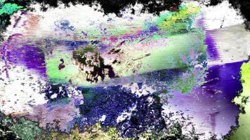 bucle de fondo de arte colorido grunge video