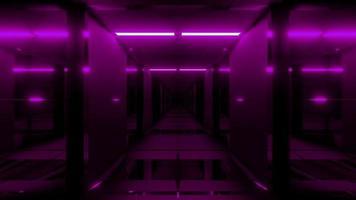 túnel de nave espacial futurista de ficção científica video