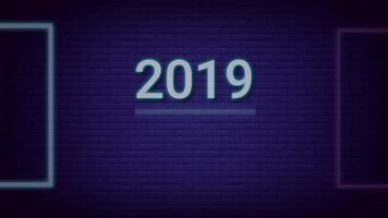 Year 2019 change to Happy New Year 2020 video