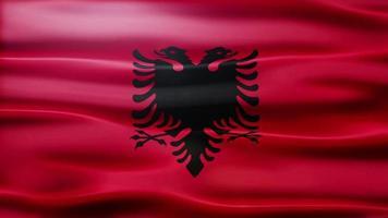 Albania Flag Loop