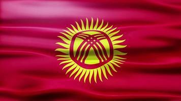 bandiera del Kirghizistan loop video