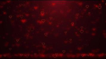 corazones rojos voladores