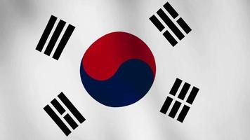 South Korea or Republic of Korea flag waving