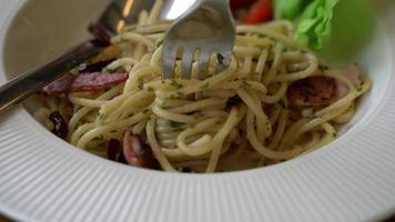 Gabel rollende Spaghetti