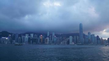 timelapse ciudad de hong kong video