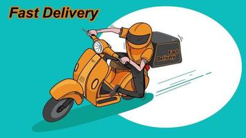 livraison rapide en scooter