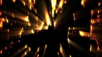 fundo de luzes douradas brilhantes video