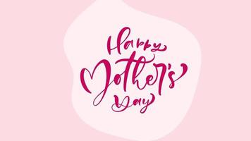 Happy Mother's Day Text with Flowers Background video