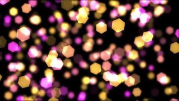 lindas luzes coloridas de bokeh 4k video