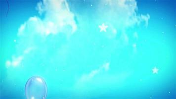 lindos balões voando no céu azul video