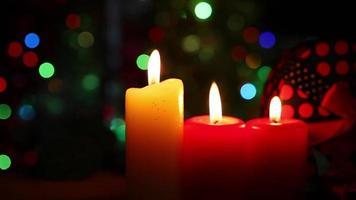Romantic Candles and Gift Boxes with Bokeh