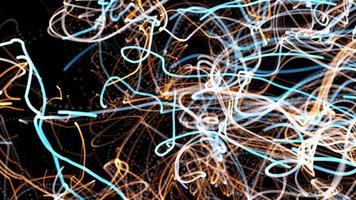 cordas de fundo abstrato de energia de luz caótica video
