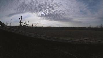 mouvement du ciel et des nuages au printemps.