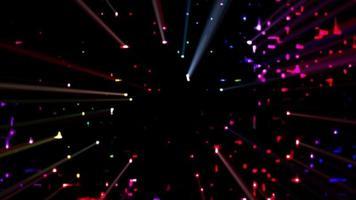 fundo colorido das luzes do clube