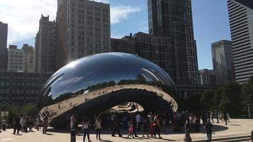 estátua do portal da nuvem / feijão de chicago em chicago 4k