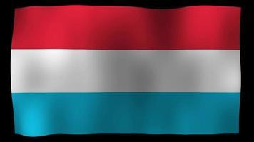 Vídeo de stock de bucle de movimiento de 4k de bandera de Luxemburgo