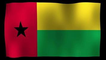 Guinea-Bissau Flag 4K Motion Loop Stock Video