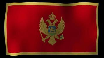 bandiera del montenegro 4k motion loop stock video