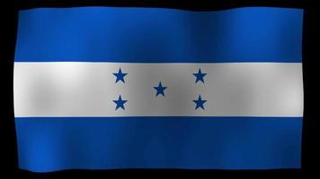 bandiera dell'Honduras 4k motion loop stock video