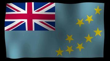 tuvalu flag 4k motion loop archivi video