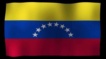 bandiera del venezuela 4k motion loop stock video